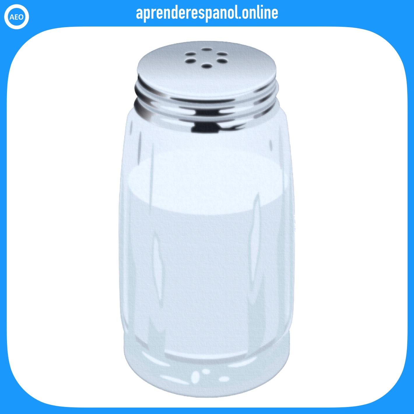 Ejemplo de colores: La sal es de color blanco - Vocabulario de colores
