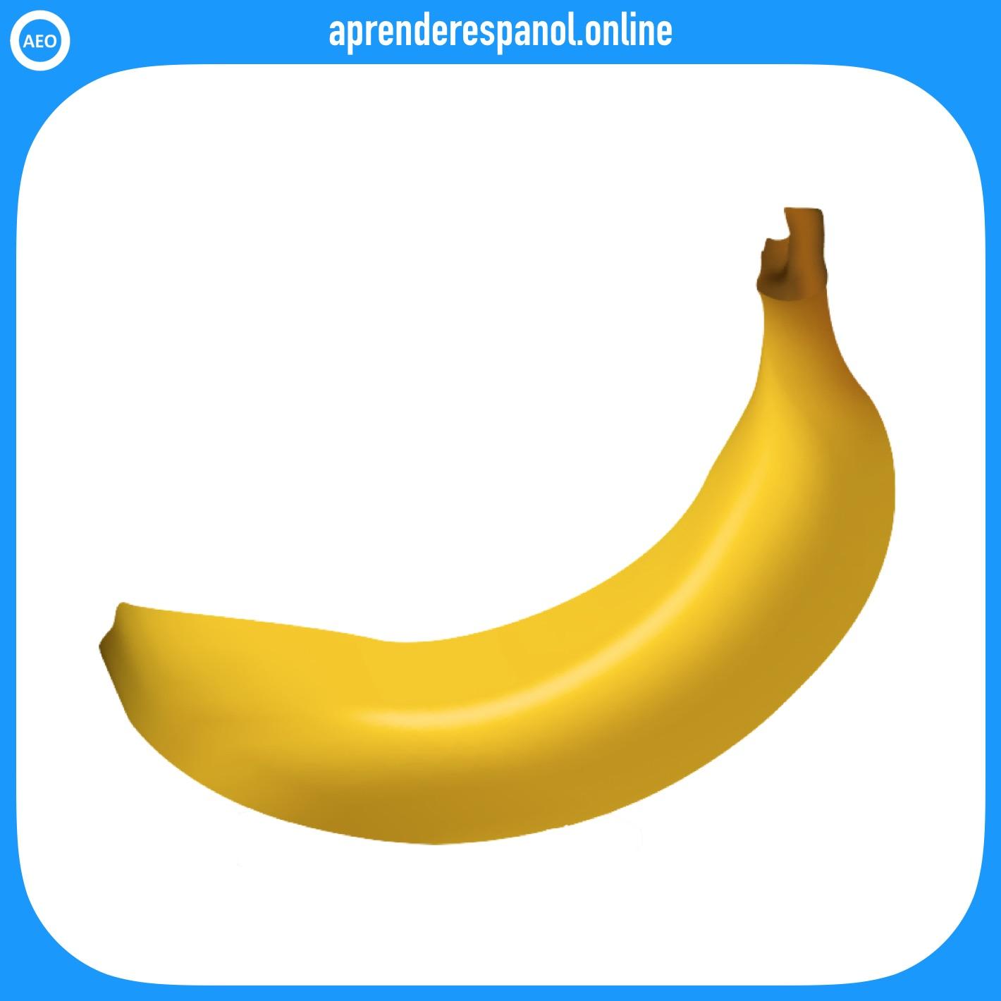 frutas: plátano - frutas en español - vocabulario de las frutas en español