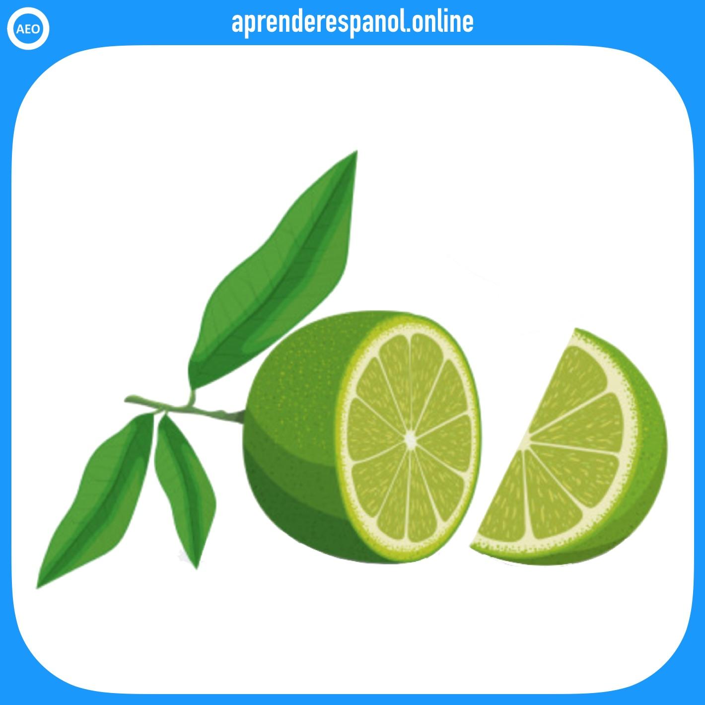limón - frutas en español - vocabulario de las frutas en español