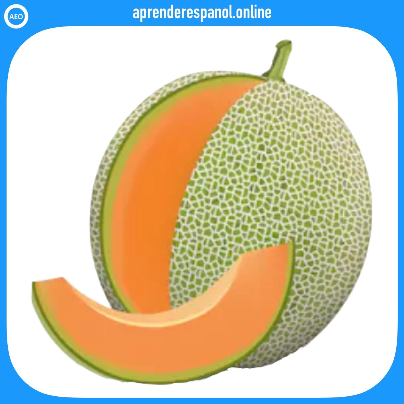 melón - frutas en español - vocabulario de las frutas en español