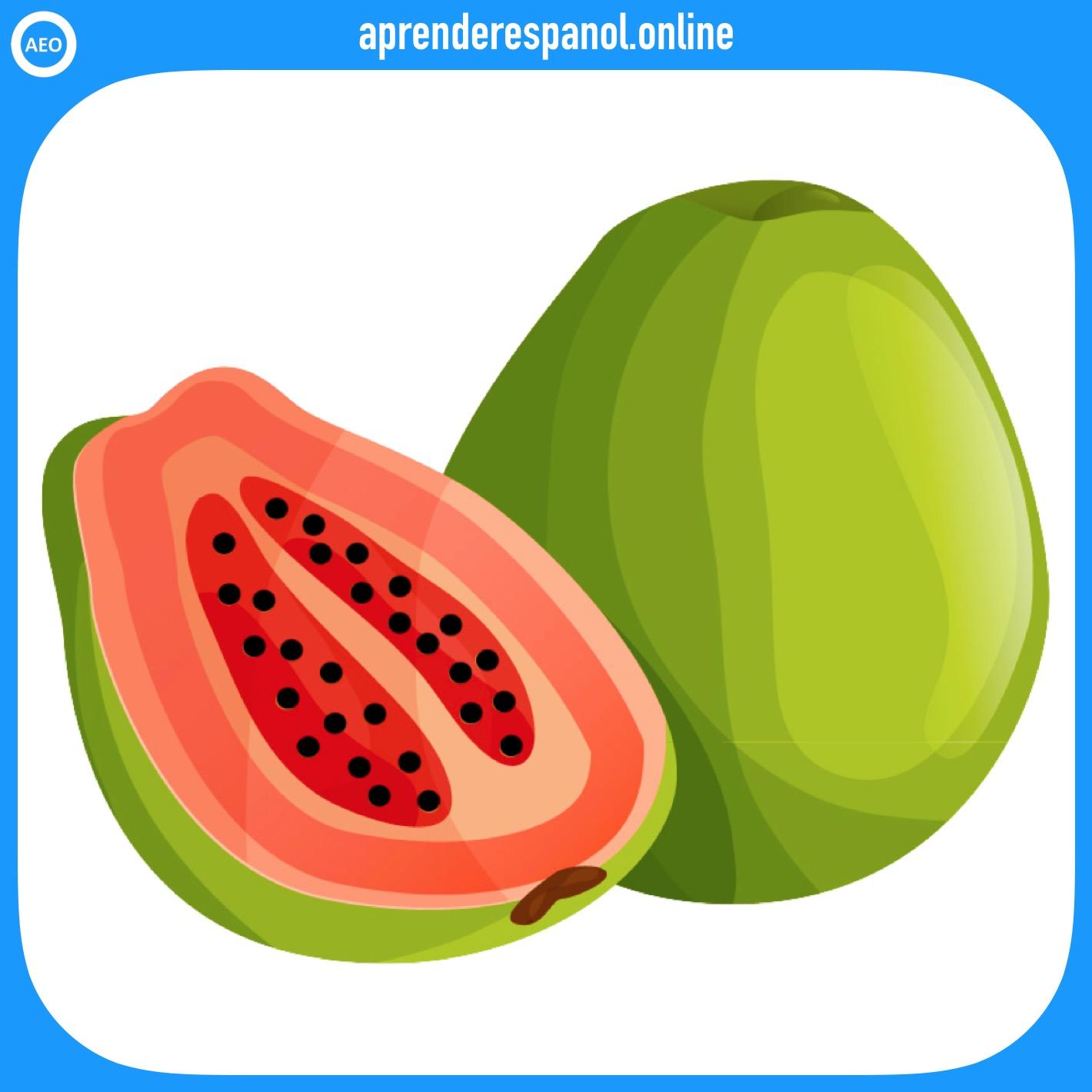 papaya - frutas en español - vocabulario de las frutas en español