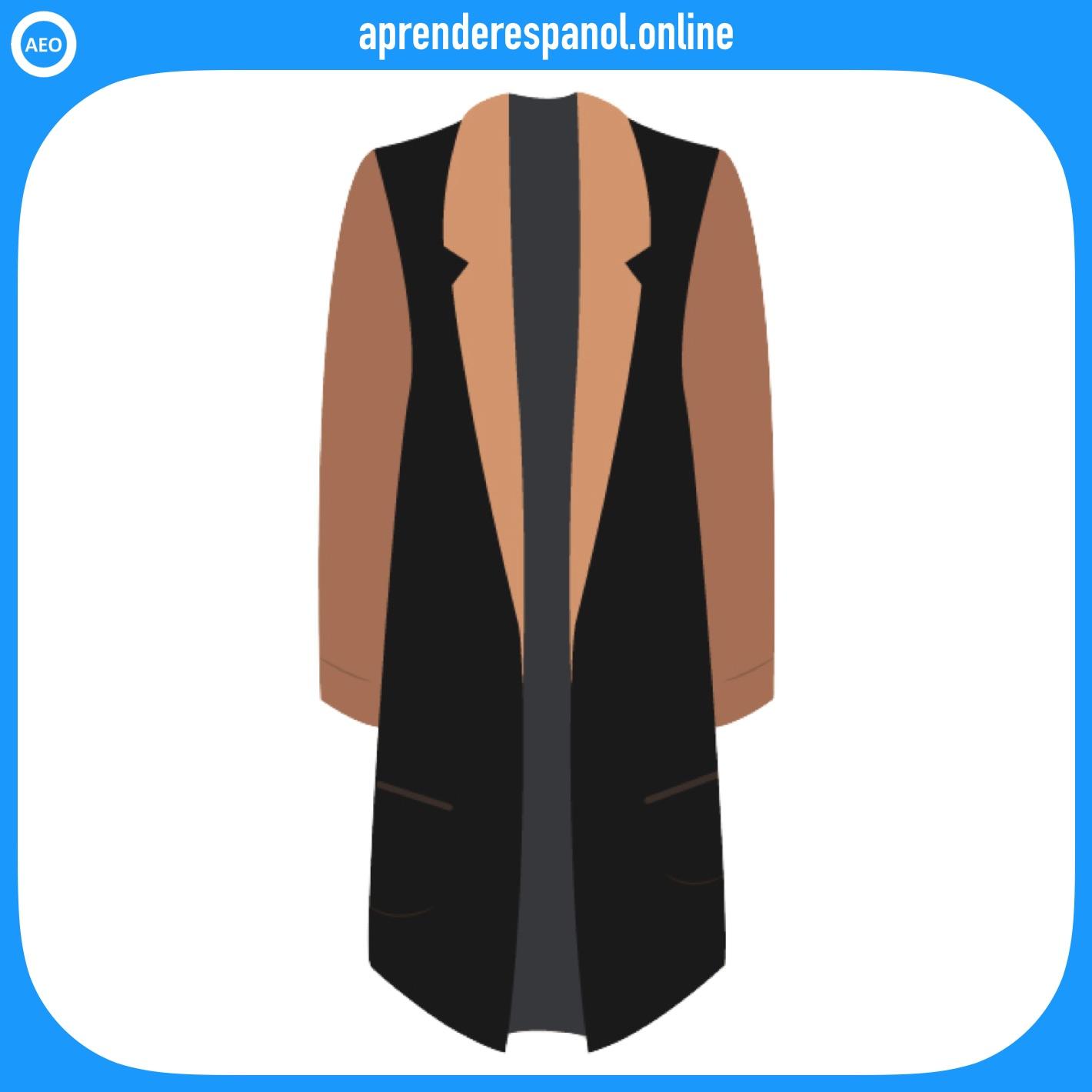 abrigo | ropa en español | vocabulario de la ropa en español