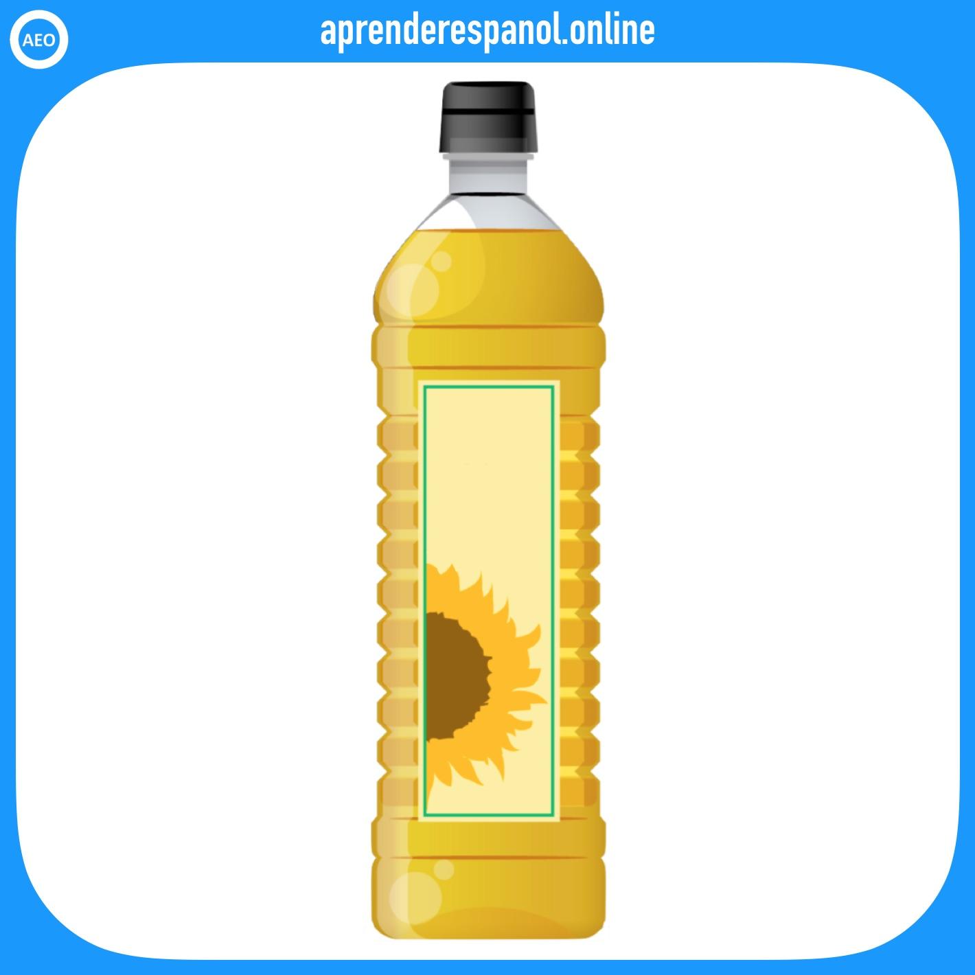 aceite   alimentos en español   vocabulario de los alimentos en español