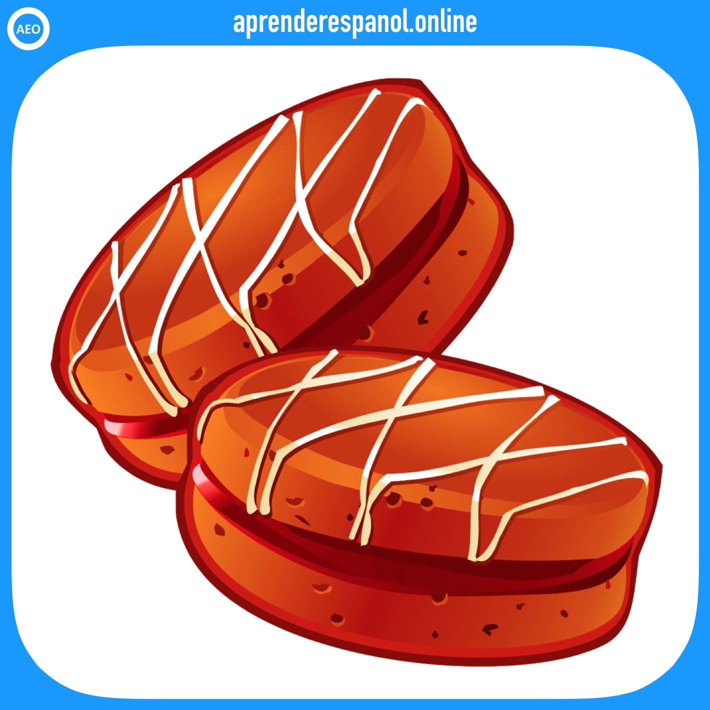alfajor   postres y dulces en español   vocabulario de los postres en español