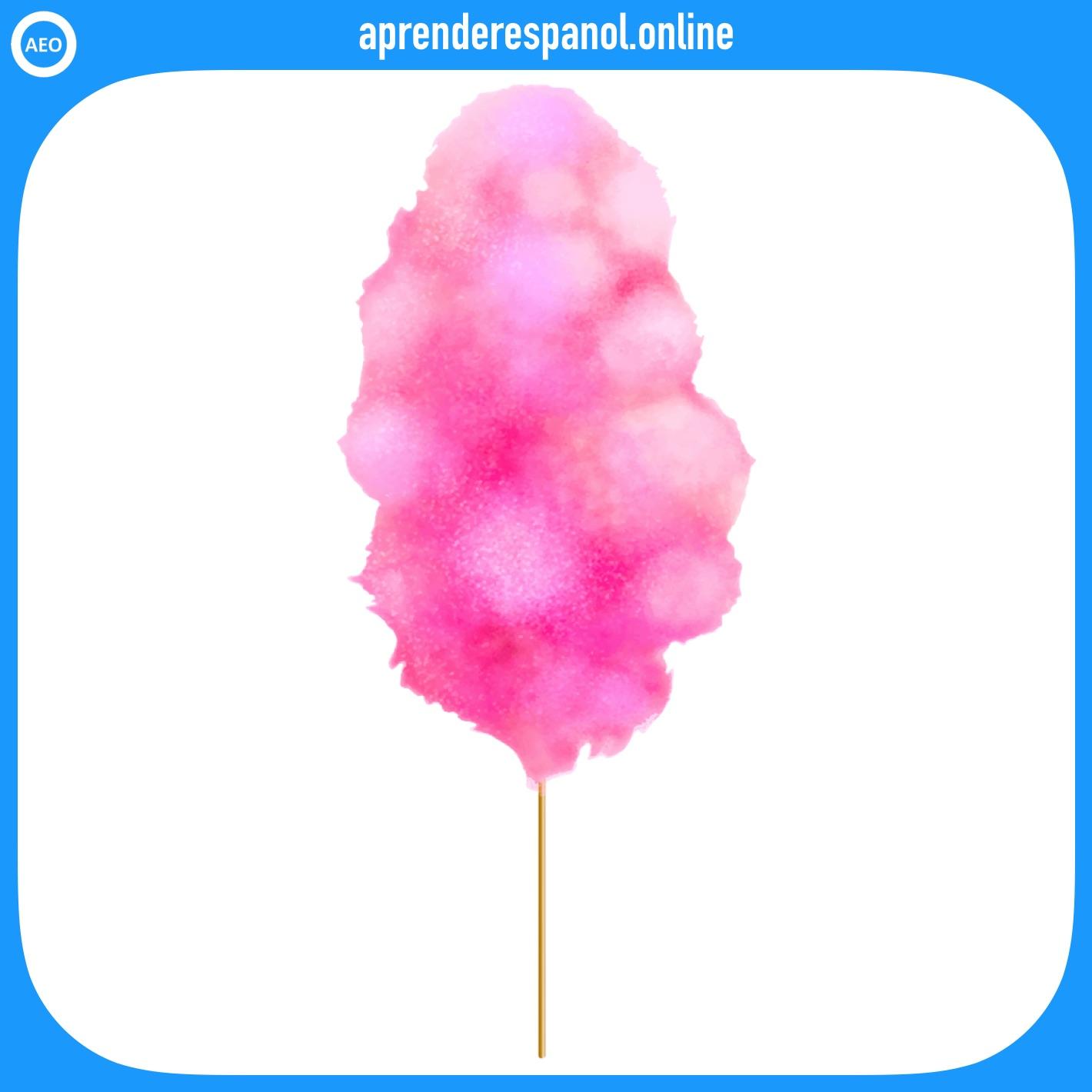 algodón de azúcar   postres y dulces en español   vocabulario de los postres en español