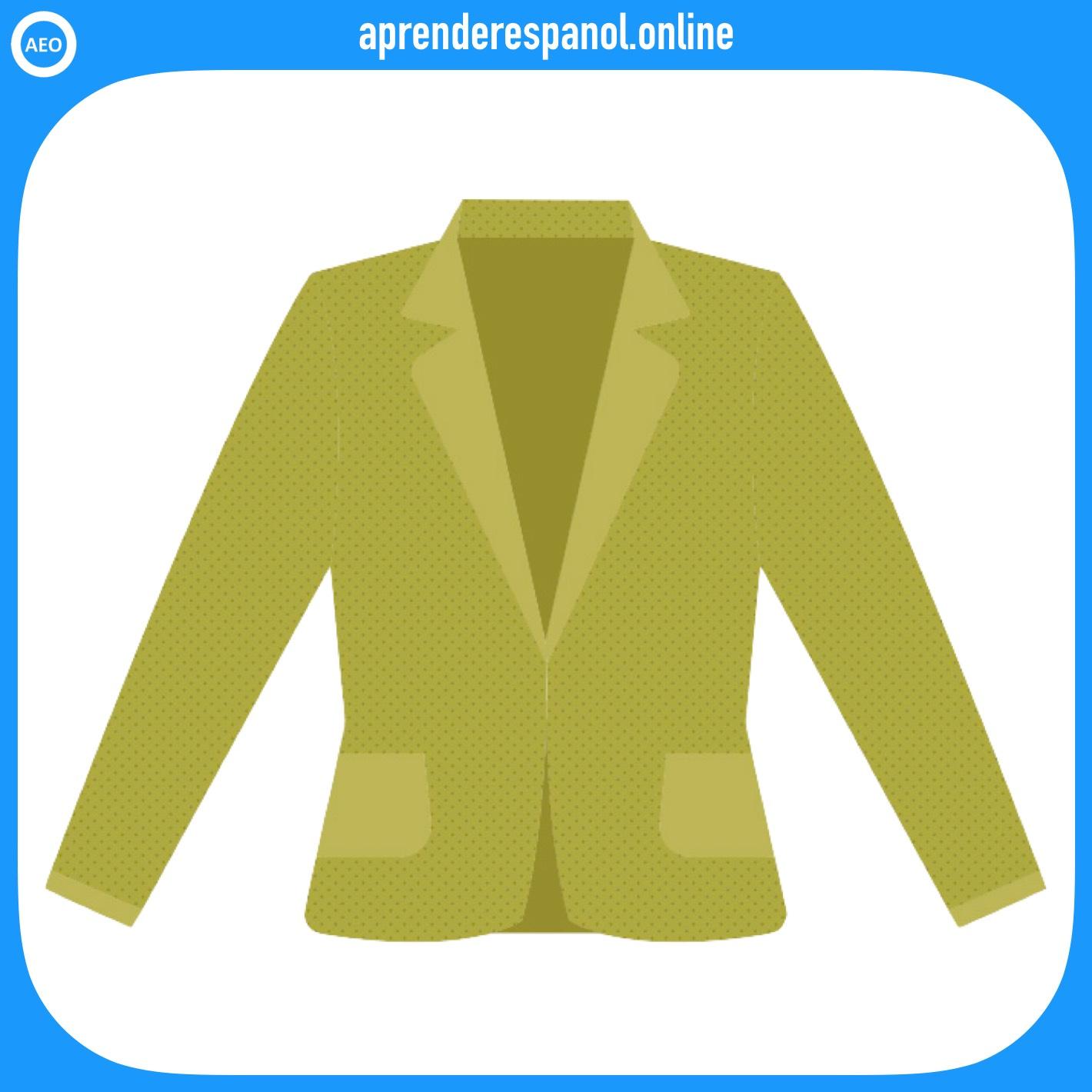 americana | ropa en español | vocabulario de la ropa en español