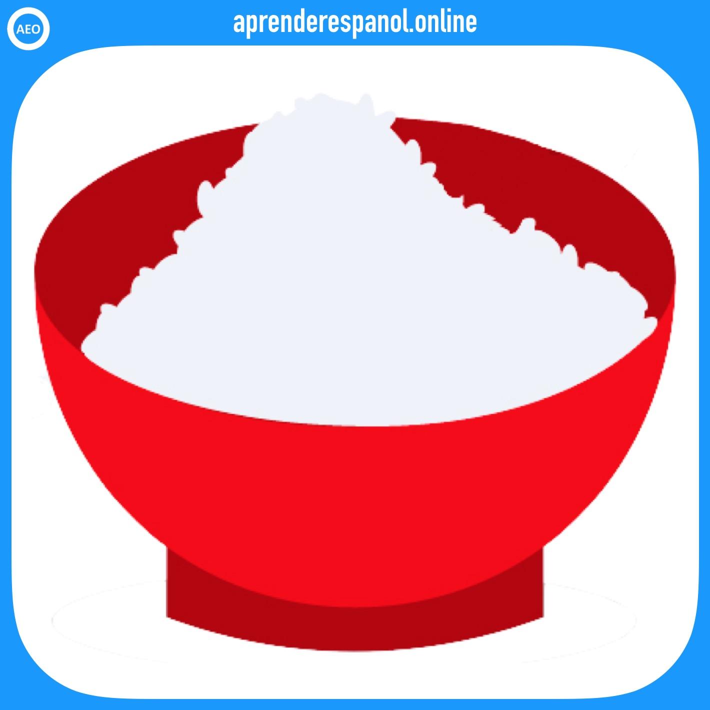 arroz   alimentos en español   vocabulario de los alimentos en español