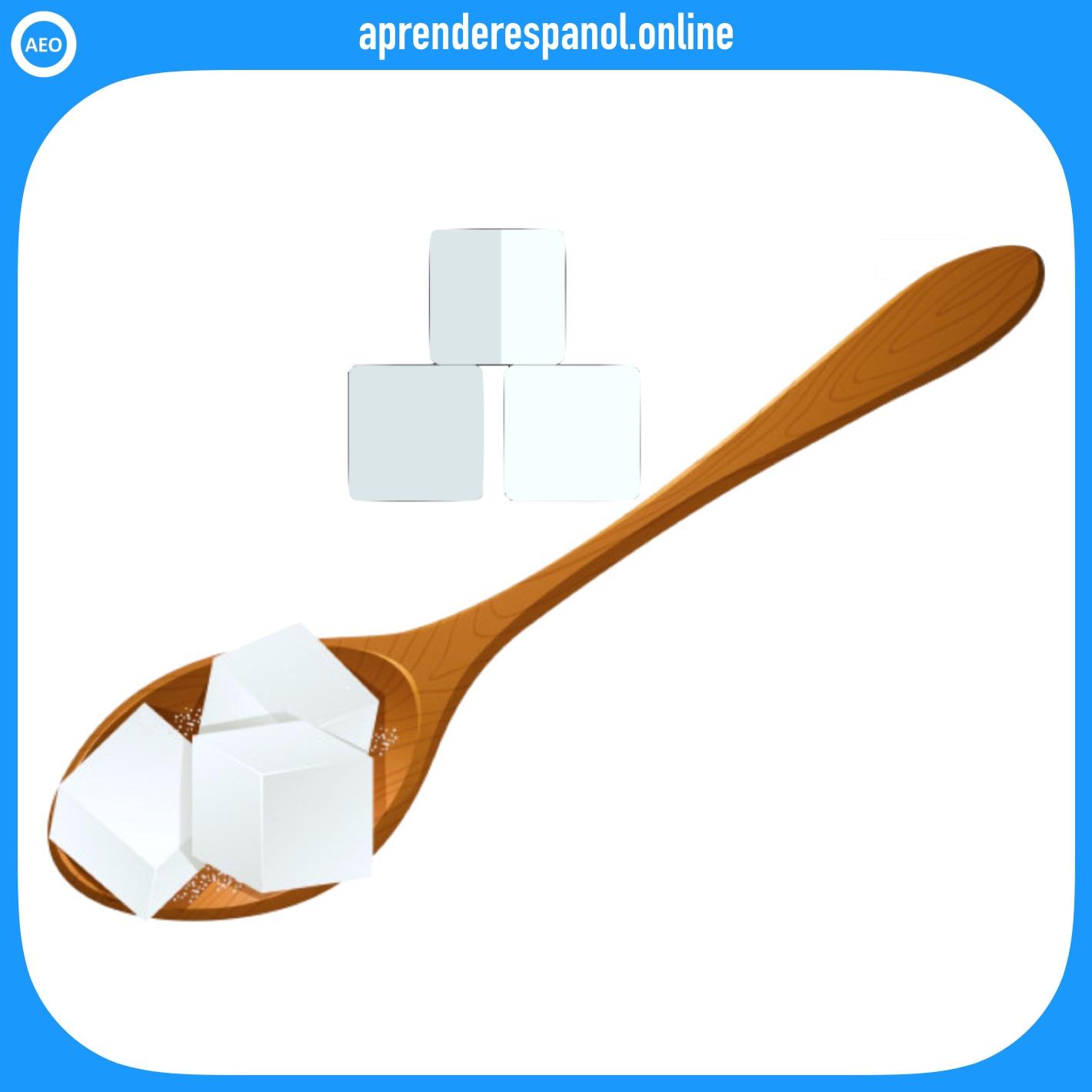 azúcar   alimentos en español   vocabulario de los alimentos en español