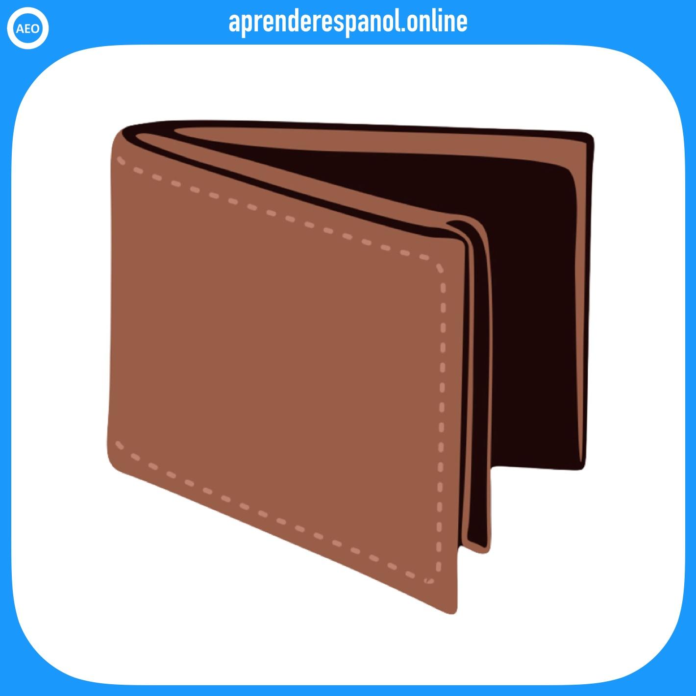 billetera | ropa en español | vocabulario de la ropa en español