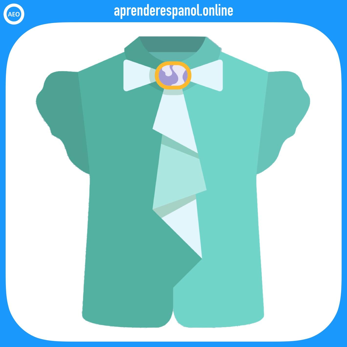 blusa | ropa en español | vocabulario de la ropa en español