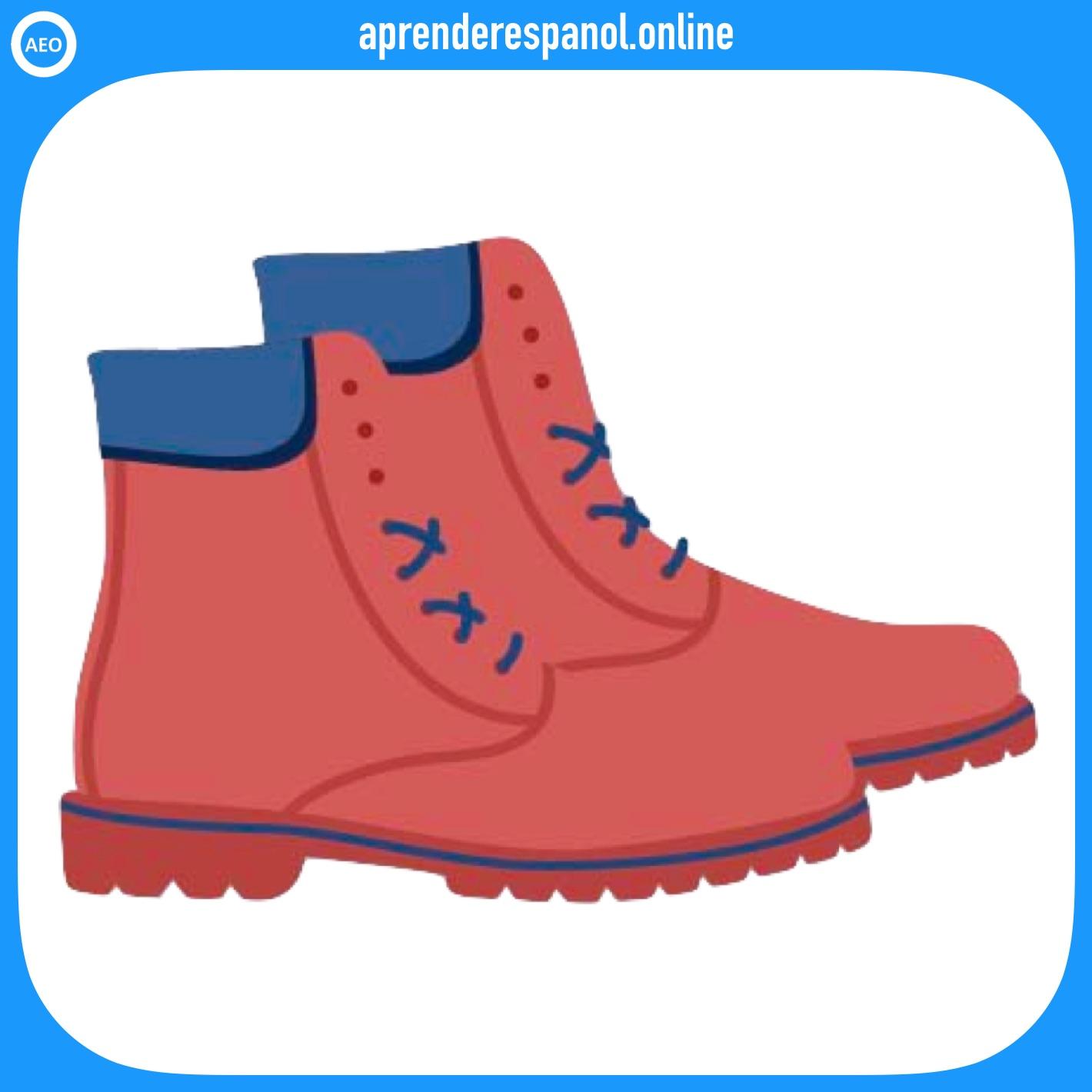 botas | ropa en español | vocabulario de la ropa en español