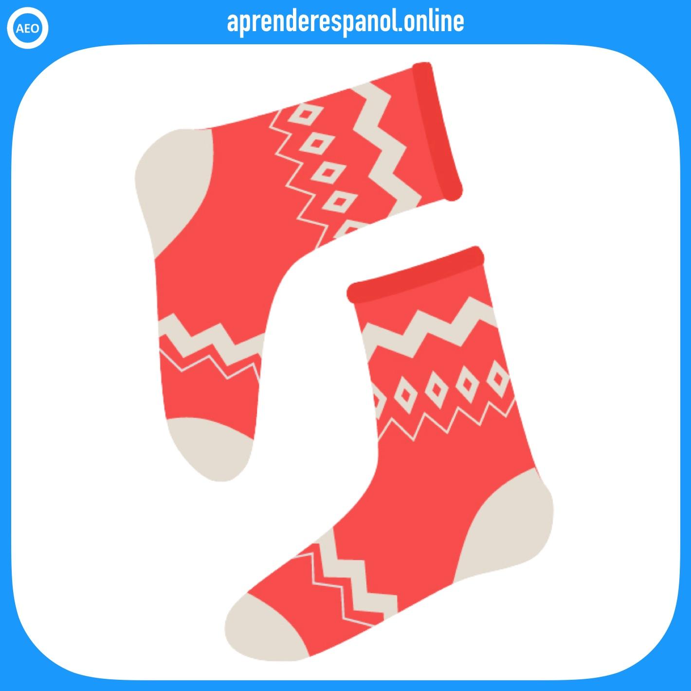 calcetines | ropa en español | vocabulario de la ropa en español