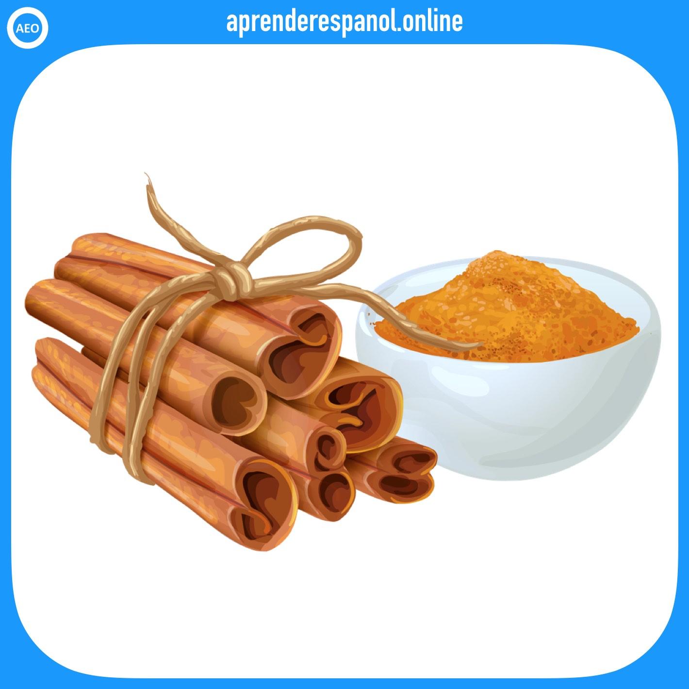 canela   alimentos en español   vocabulario de los alimentos en español