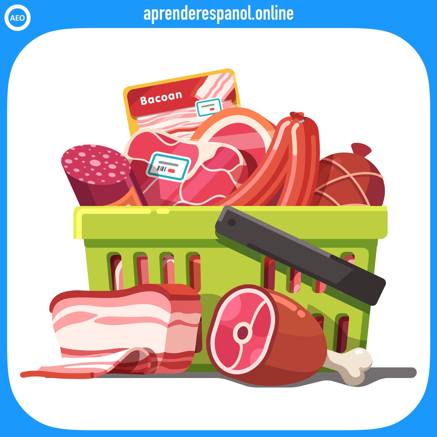 carnes   alimentos en español   vocabulario de los alimentos en español