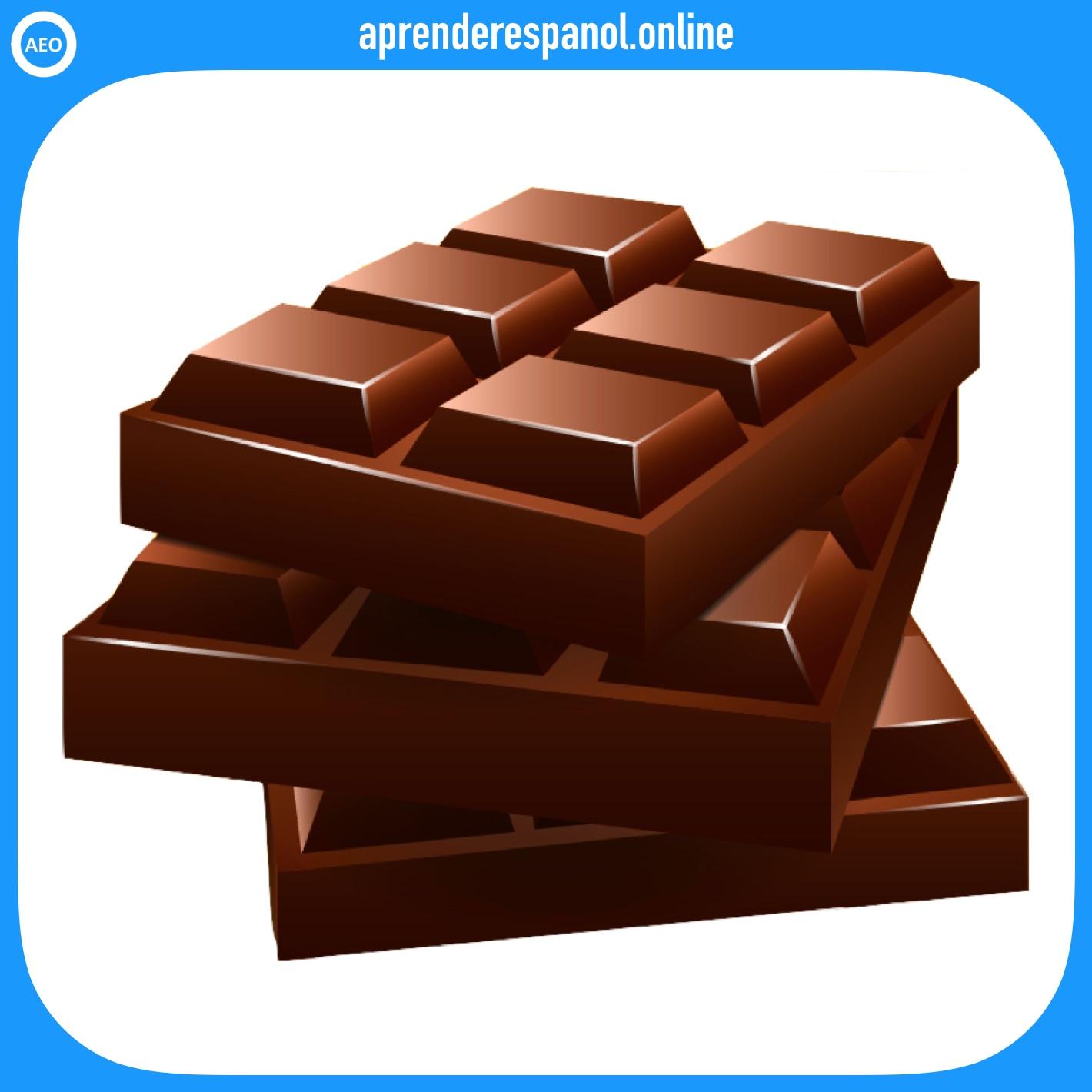 chocolate   postres y dulces en español   vocabulario de los postres en español