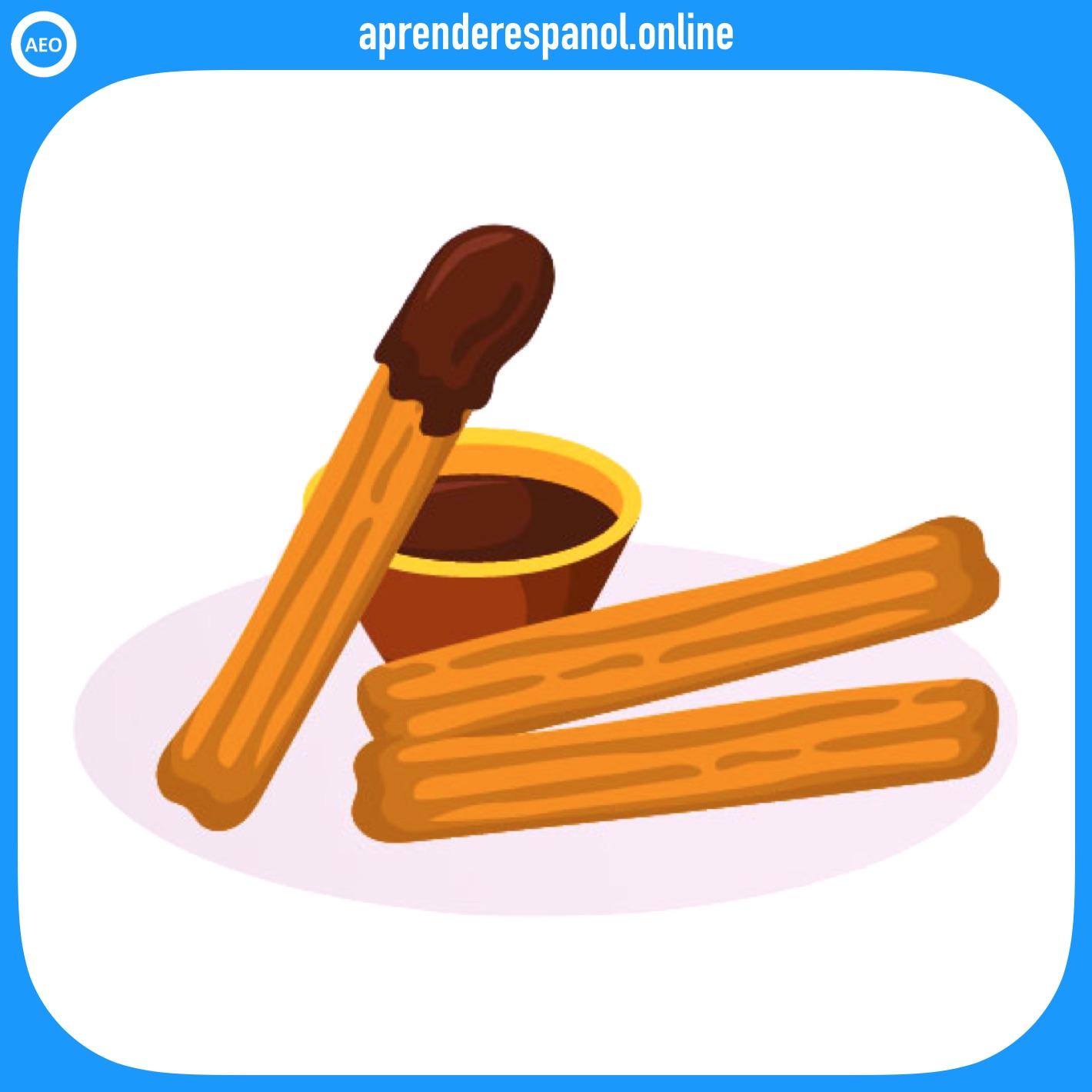 churro   postres y dulces en español   vocabulario de los postres en español