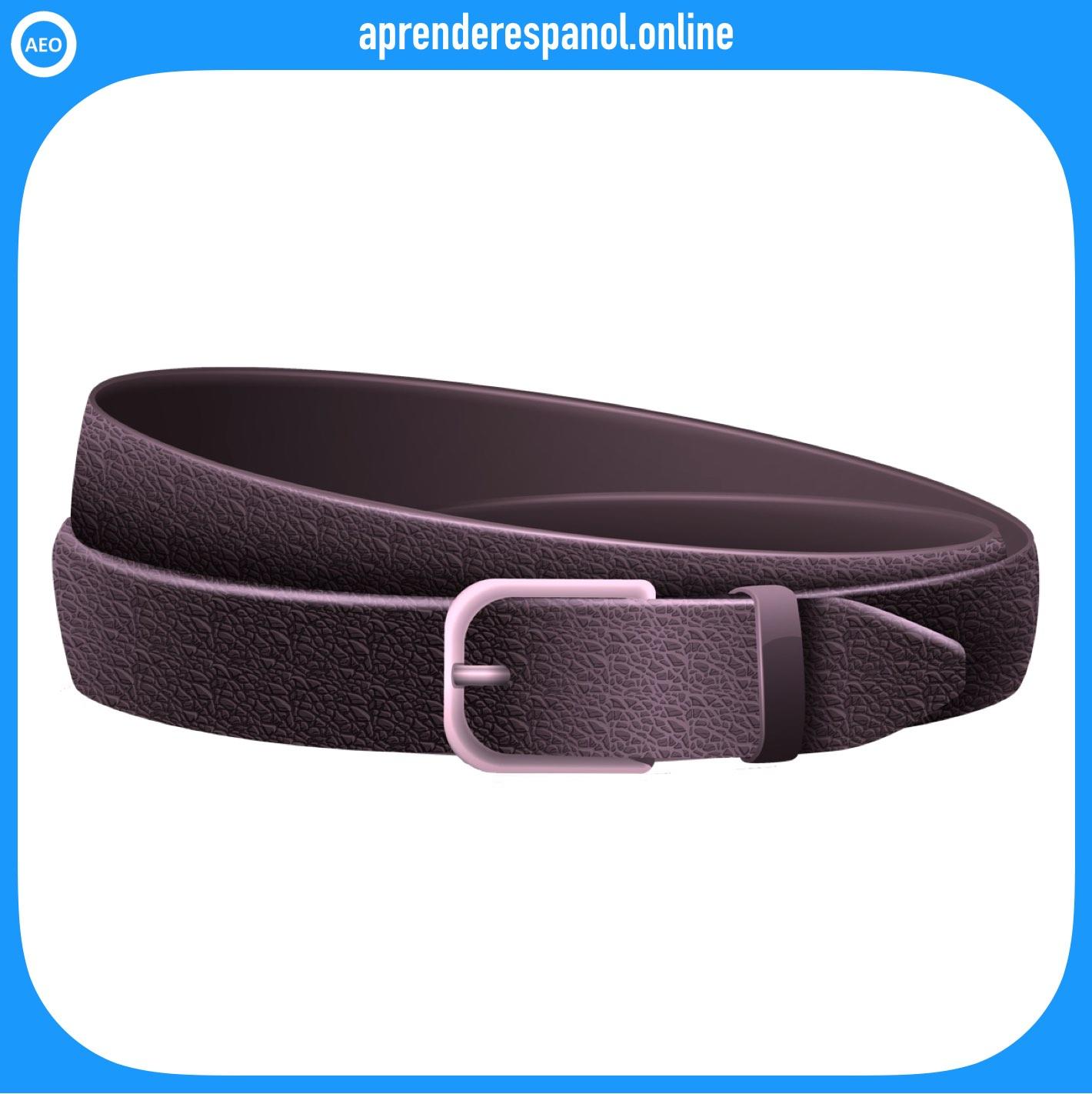 cinturón | ropa en español | vocabulario de la ropa en español
