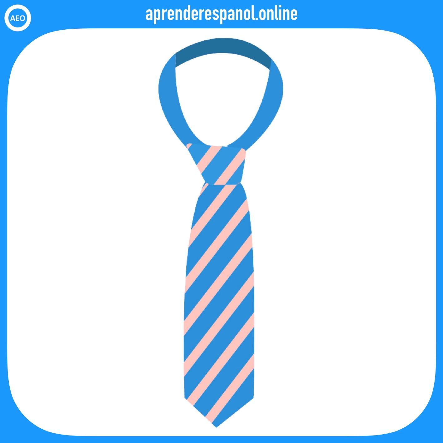 corbata | ropa en español | vocabulario de la ropa en español