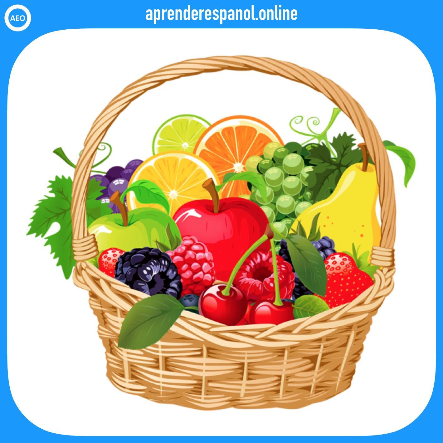 frutas   alimentos en español   vocabulario de los alimentos en español
