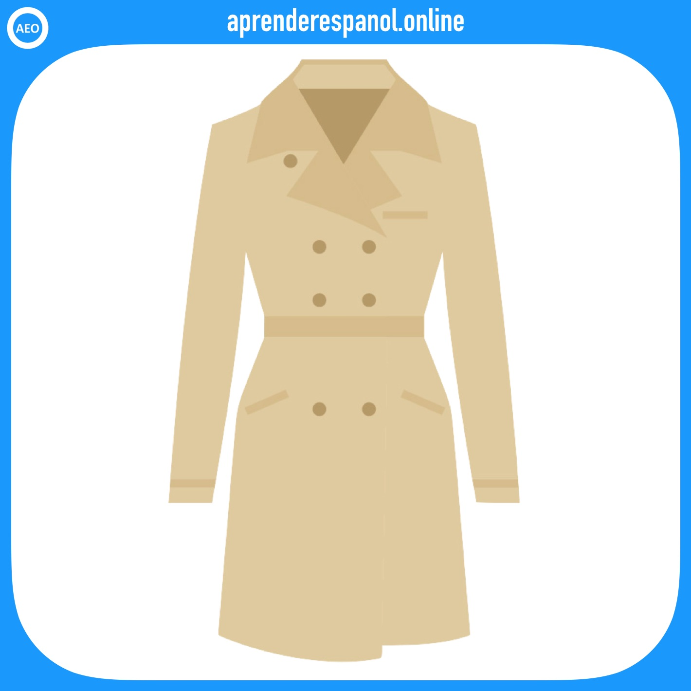 gabardina | ropa en español | vocabulario de la ropa en español