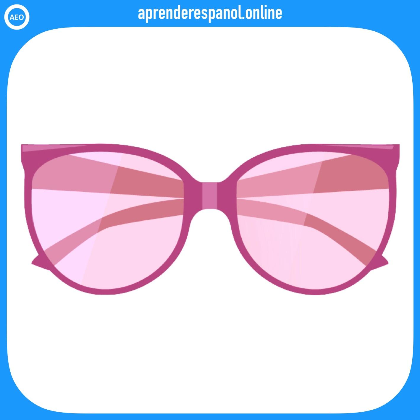 gafas | ropa en español | vocabulario de la ropa en español
