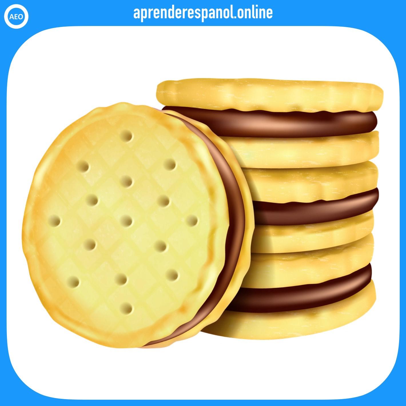 galleta   postres y dulces en español   vocabulario de los postres en español