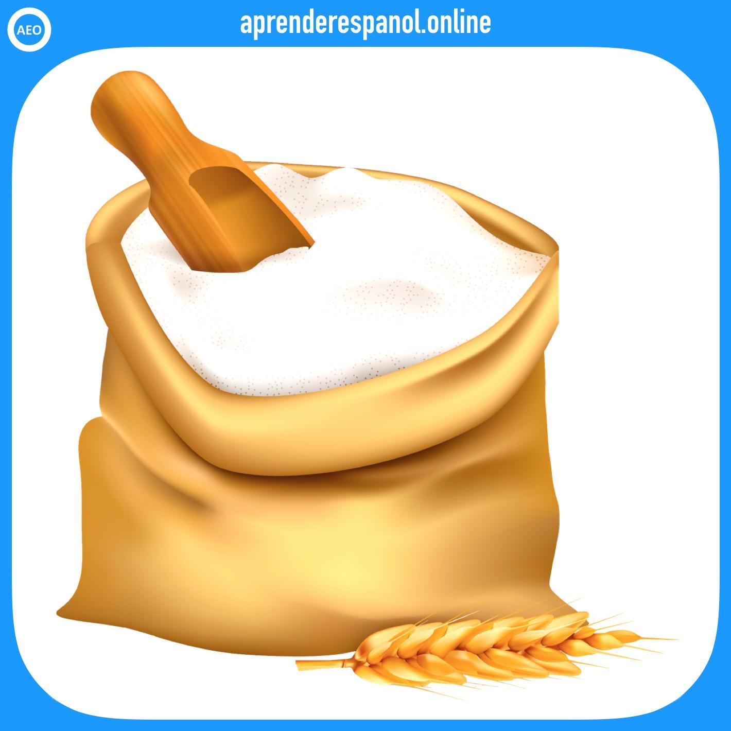 harina   alimentos en español   vocabulario de los alimentos en español