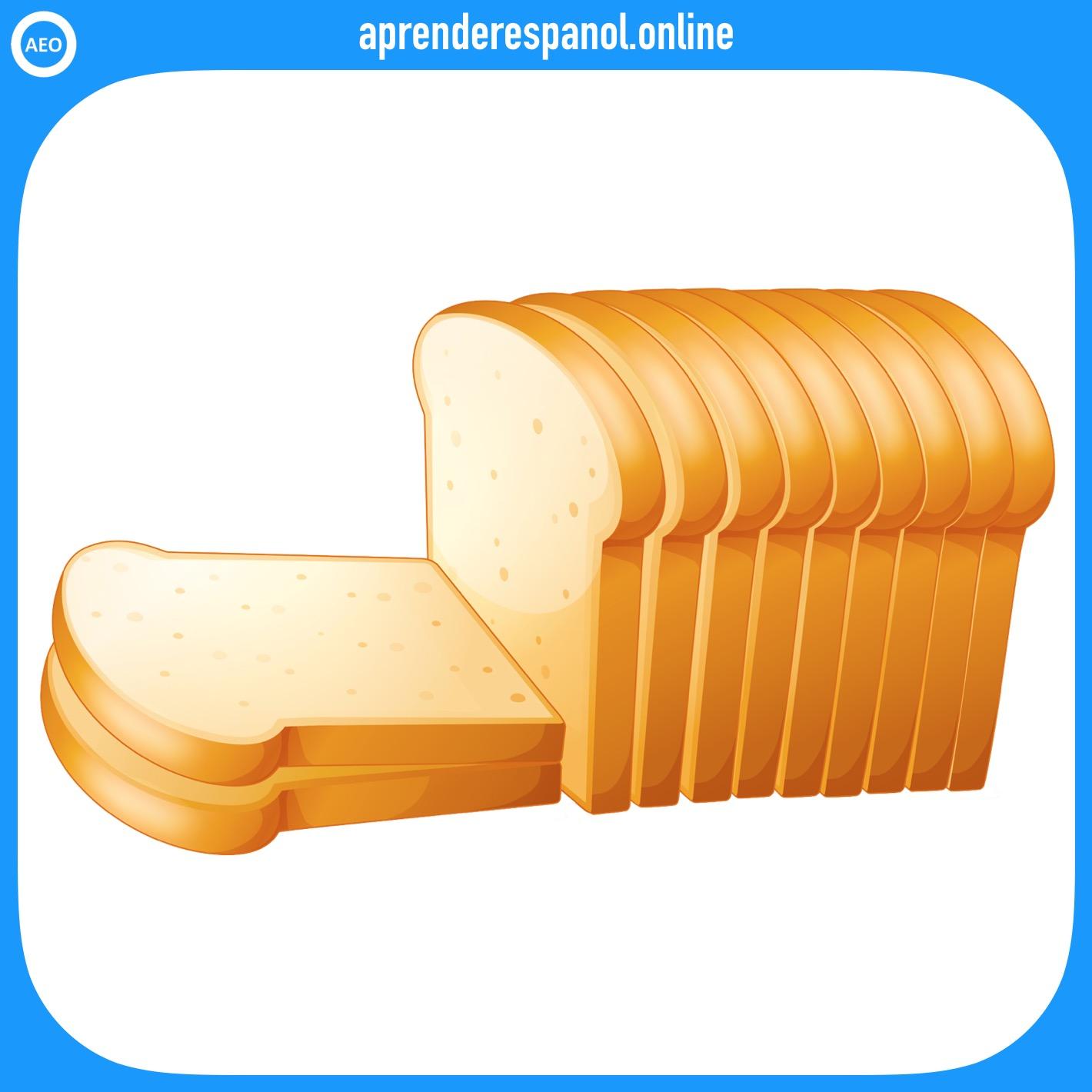 pan de molde   alimentos en español   vocabulario de los alimentos en español