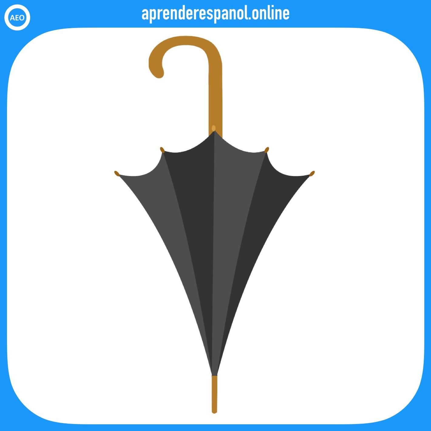 paraguas | ropa en español | vocabulario de la ropa en español