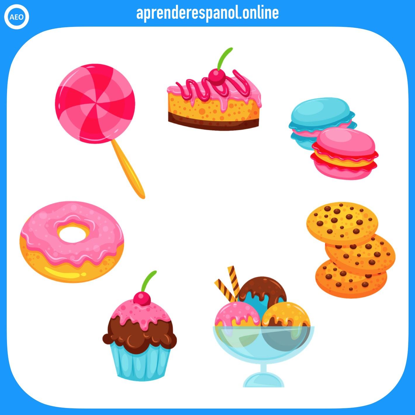 postres   alimentos en español   vocabulario de los alimentos en español