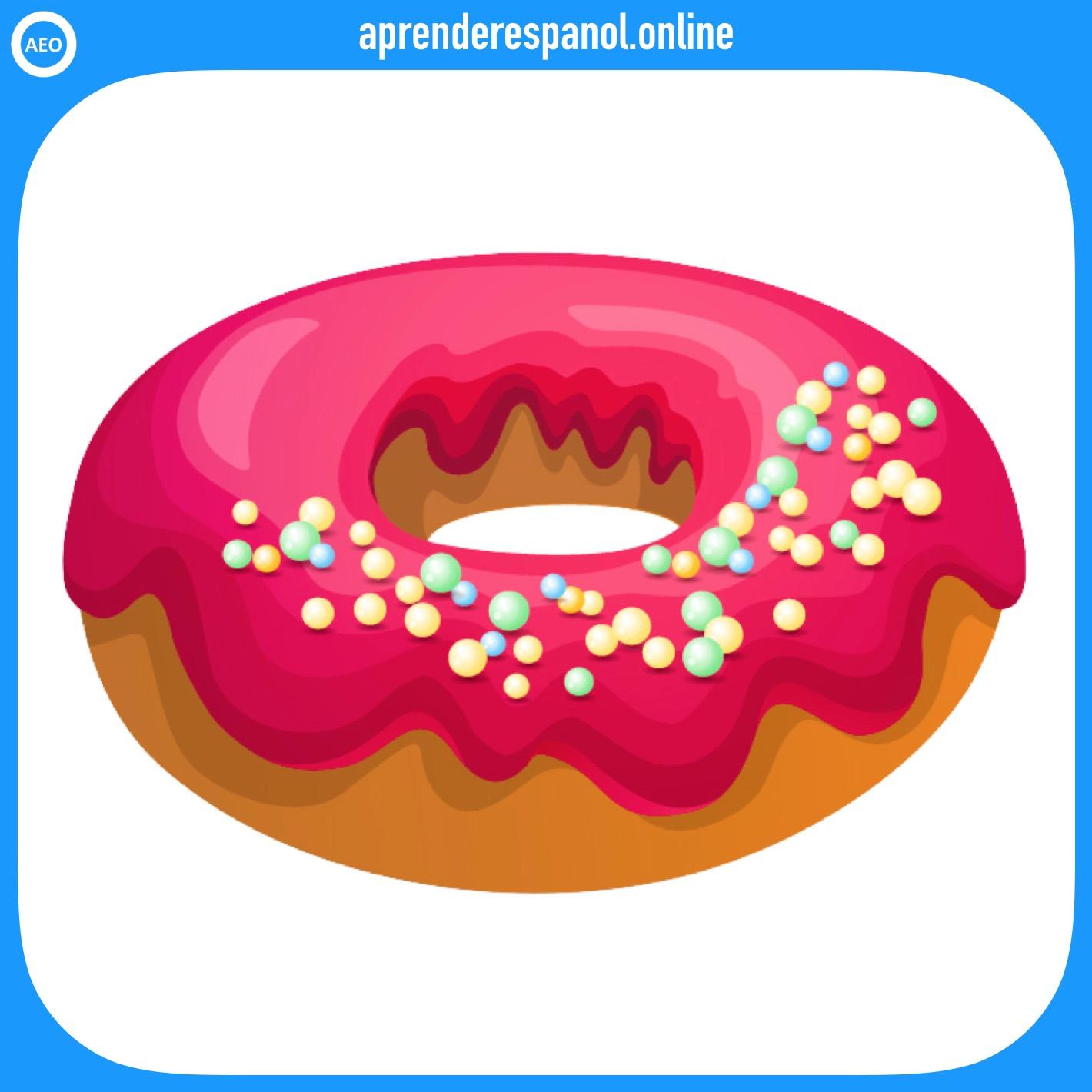 rosquilla   postres y dulces en español   vocabulario de los postres en español