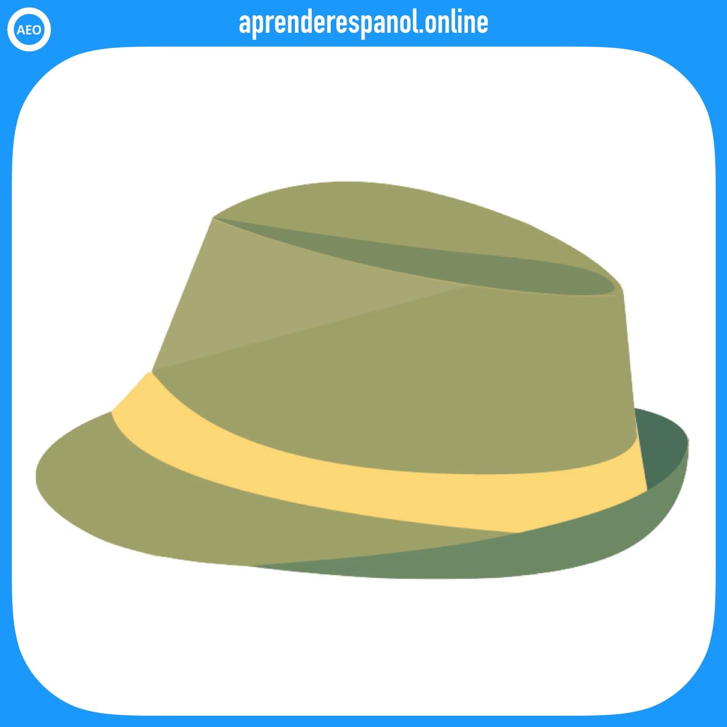sombrero | ropa en español | vocabulario de la ropa en español