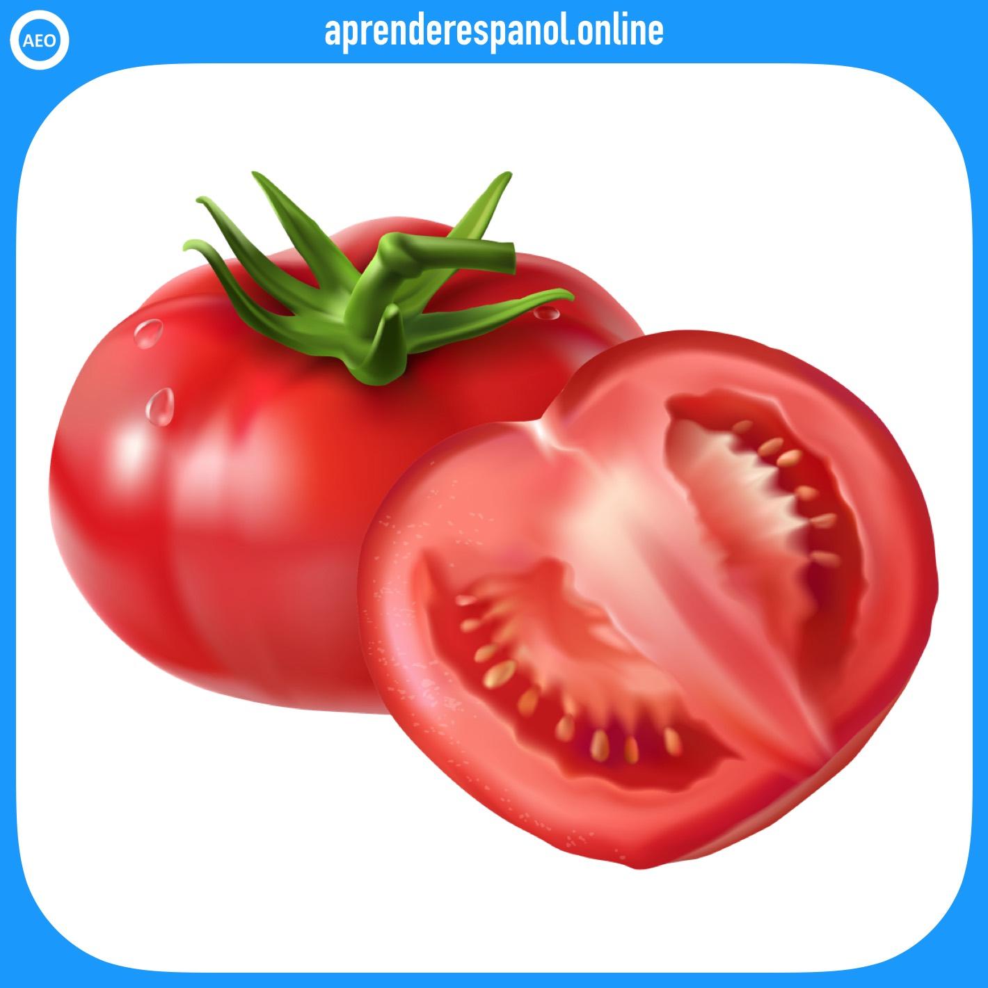tomate | verduras en español | vocabulario de las verduras en español