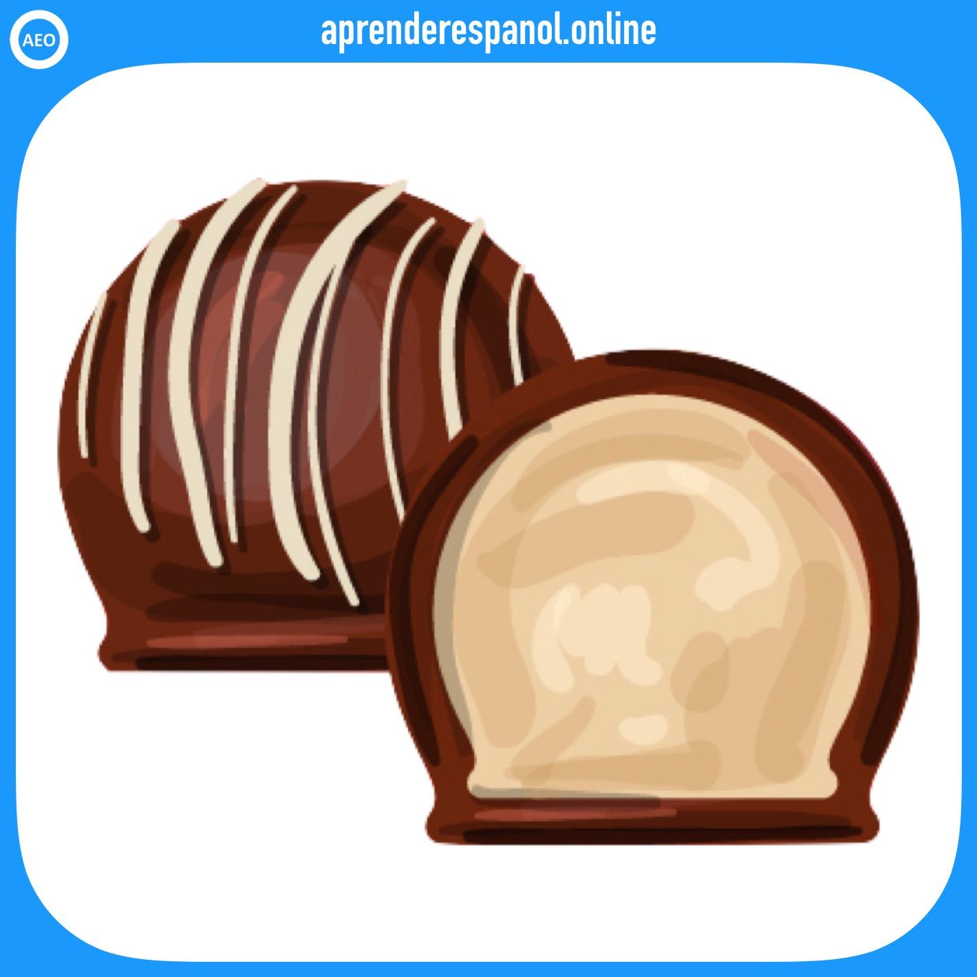 trufa   postres y dulces en español   vocabulario de los postres en español