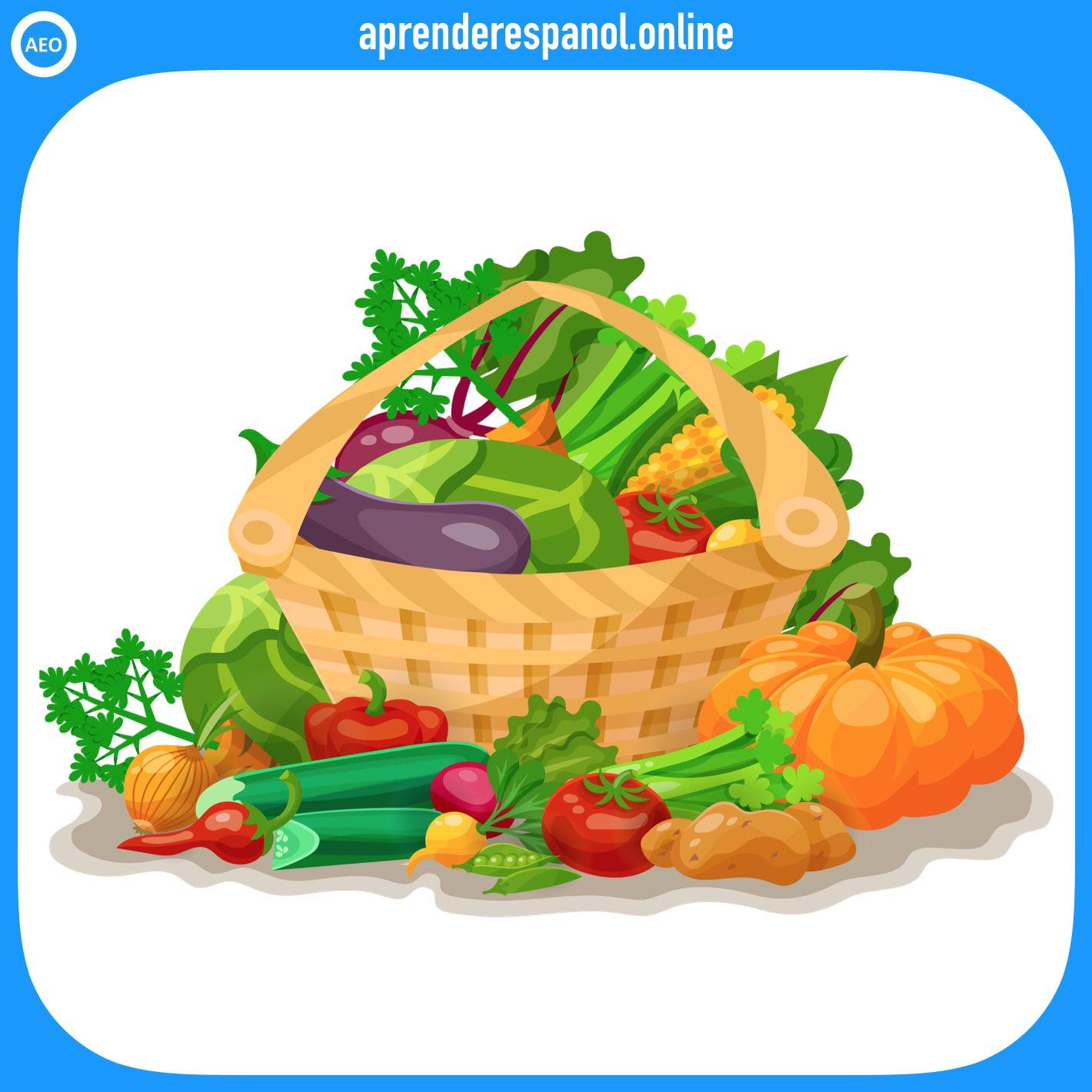 verduras   alimentos en español   vocabulario de los alimentos en español