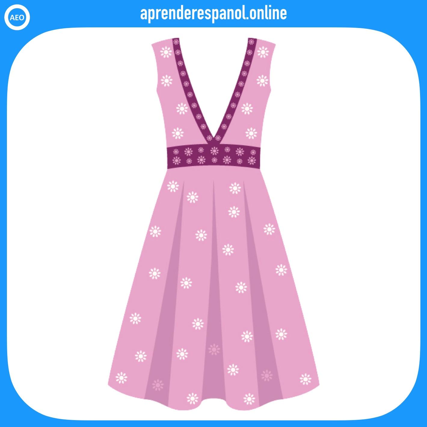 vestido | ropa en español | vocabulario de la ropa en español