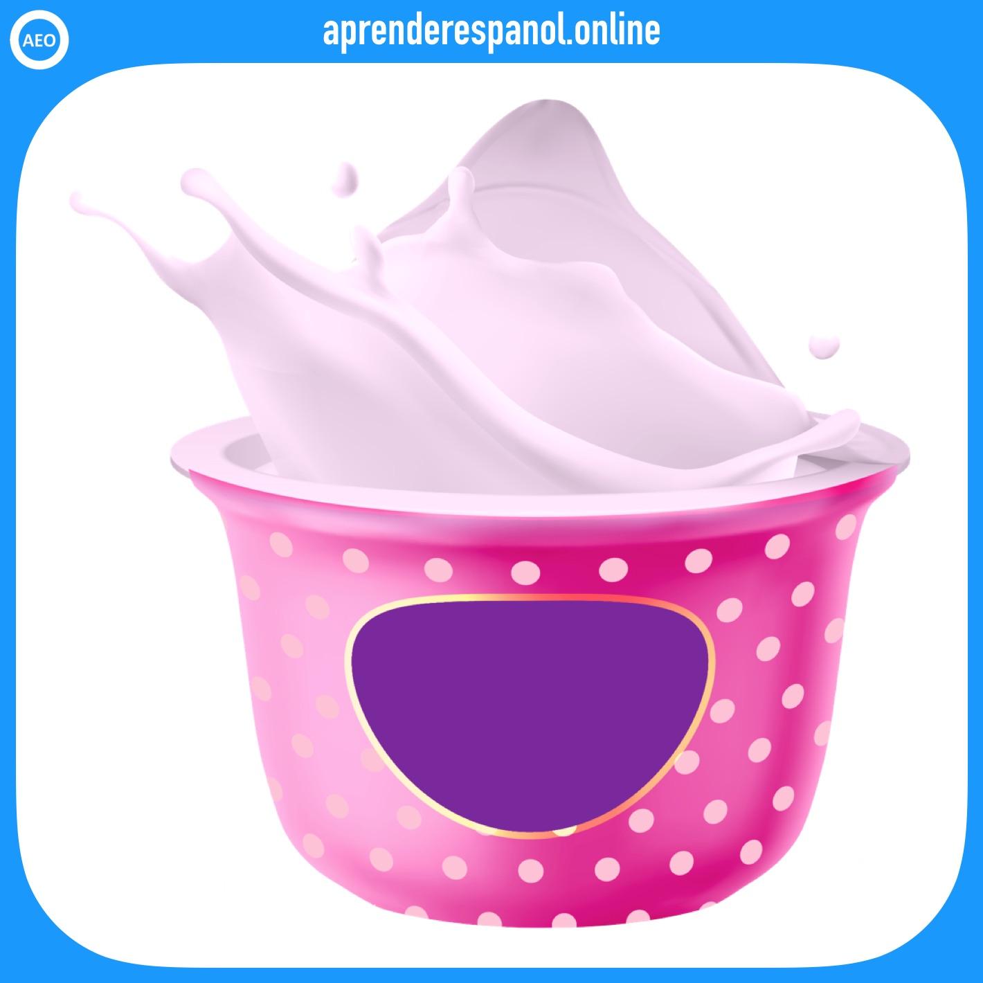yogur   alimentos en español   vocabulario de los alimentos en español