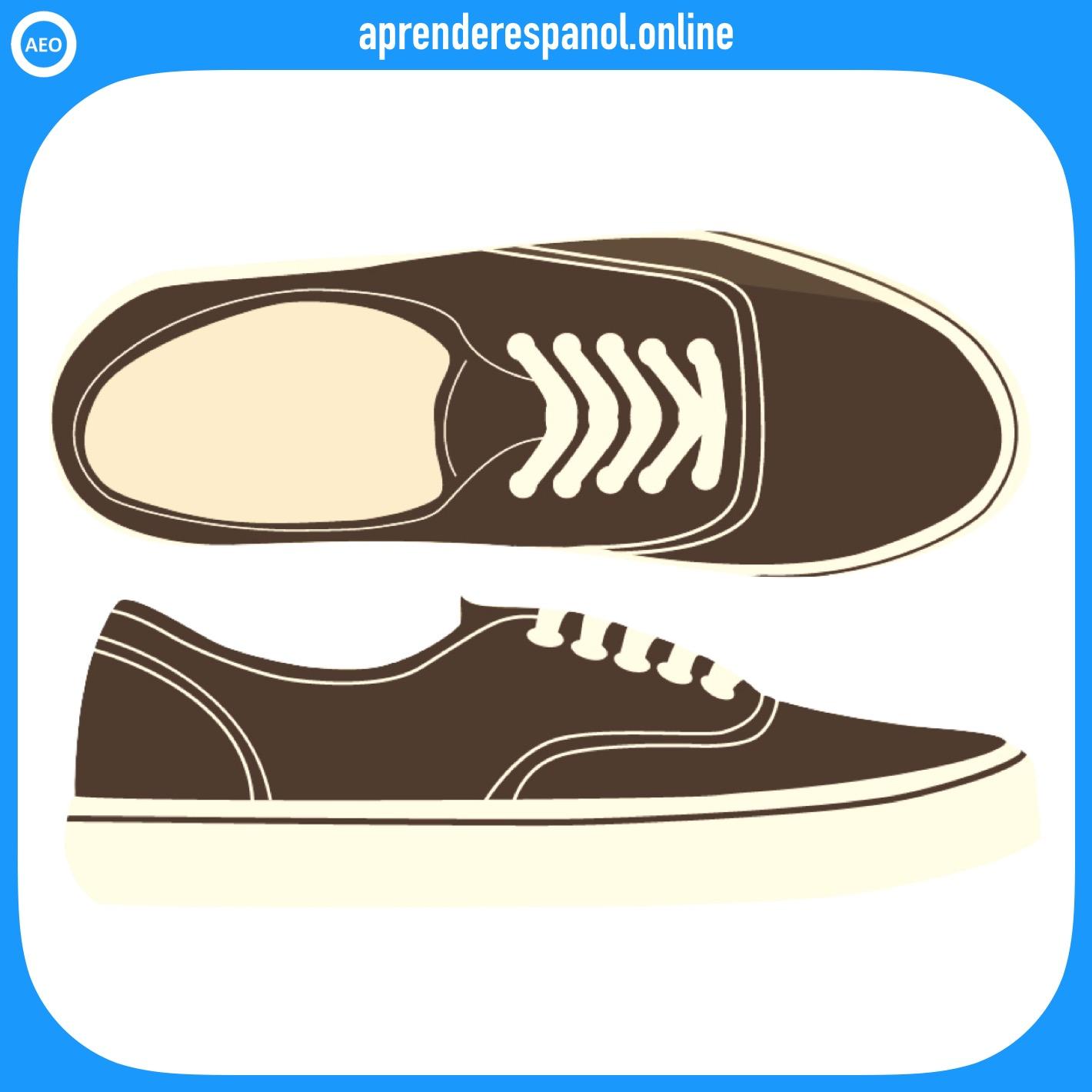 zapatillas | ropa en español | vocabulario de la ropa en español